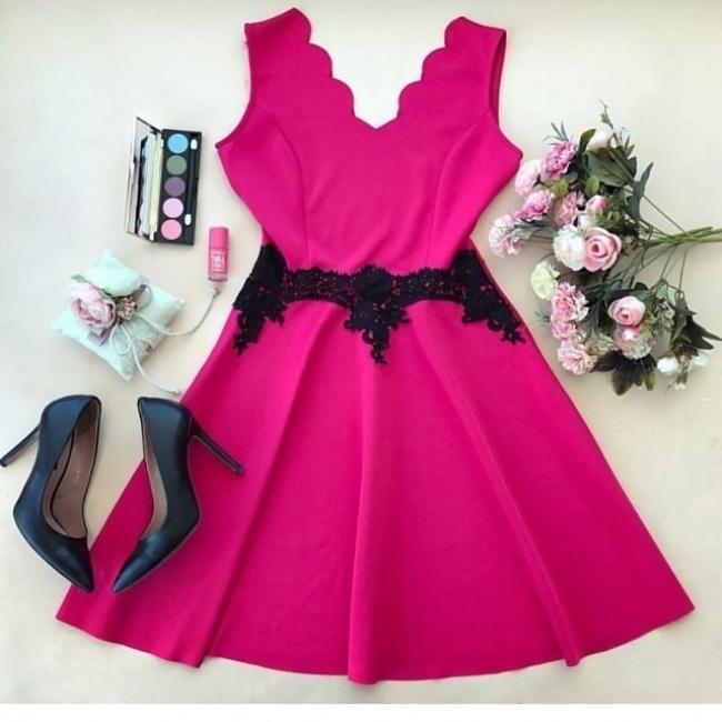 Дамска рокля Илидан Циклама