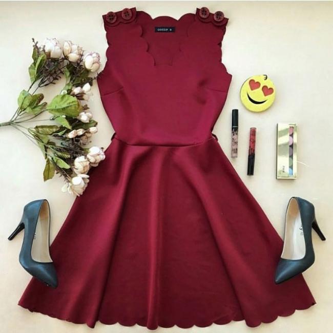"""Дамска рокля ''Princess"""" Бордо"""