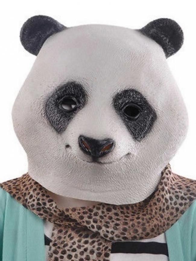 Маска с глава на панда