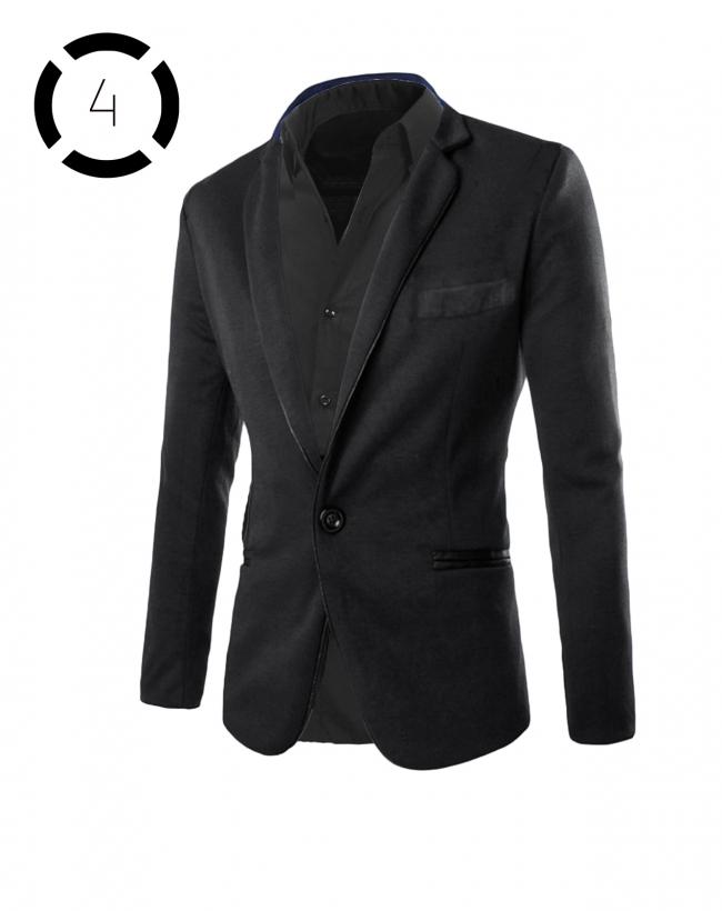Комплект черно сако и спорно-елегантна мъжка риза