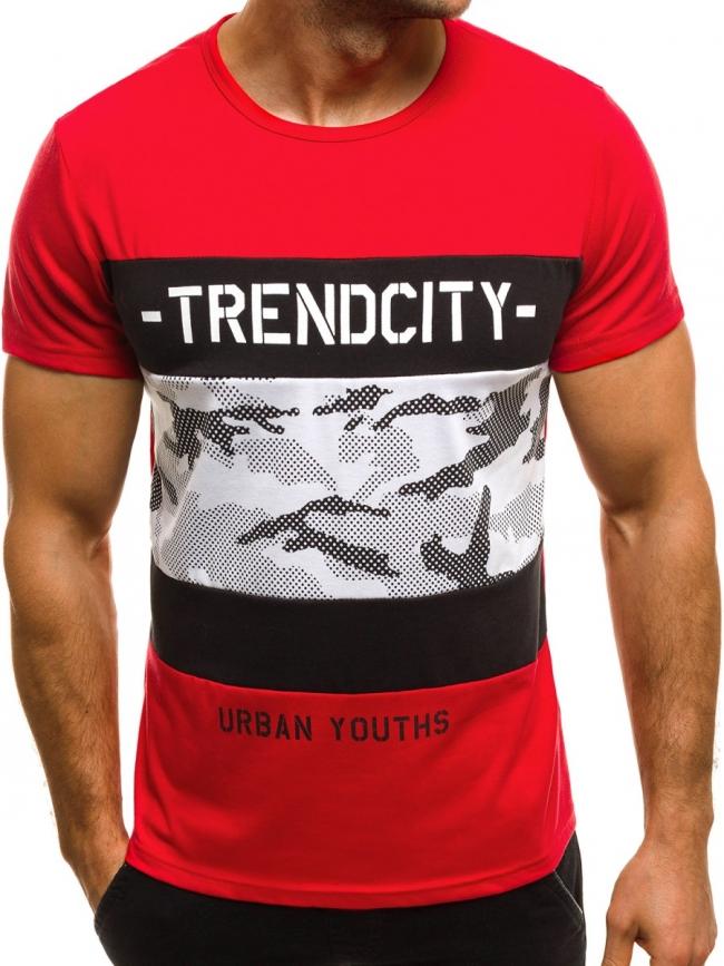 Мъжка тениска ''TrendCity'' - червена