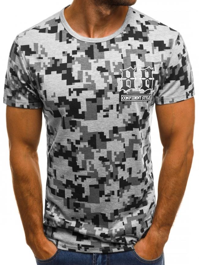 Мъжка тениска ''Fire'' - сива
