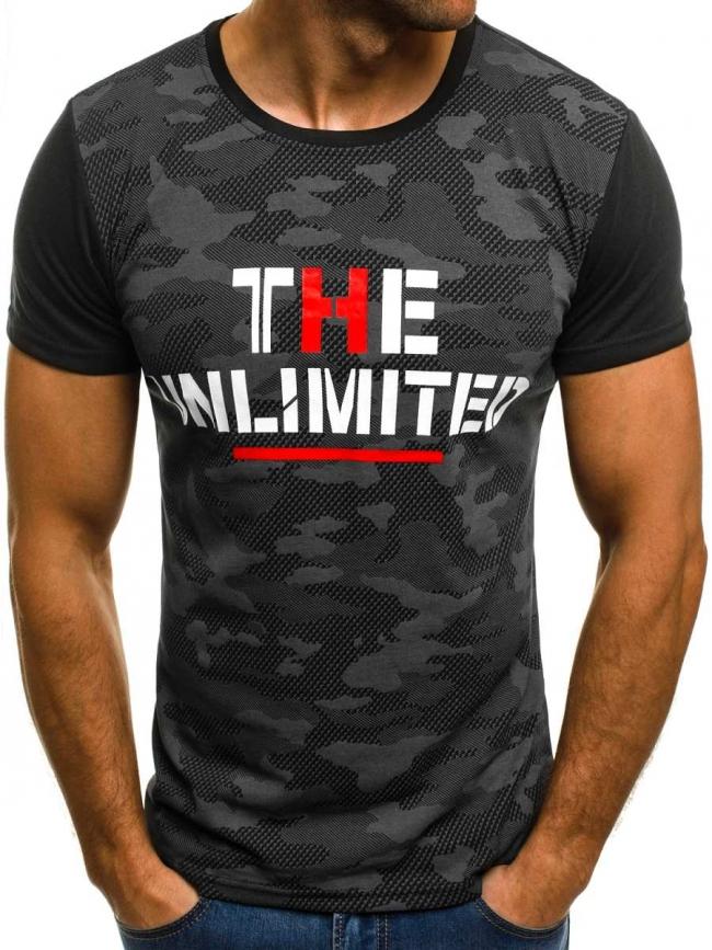 Мъжка тениска ''LIMITED'' - черна