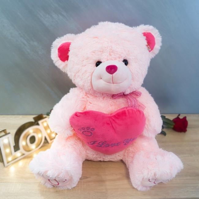 Розово плюшено мече Love you