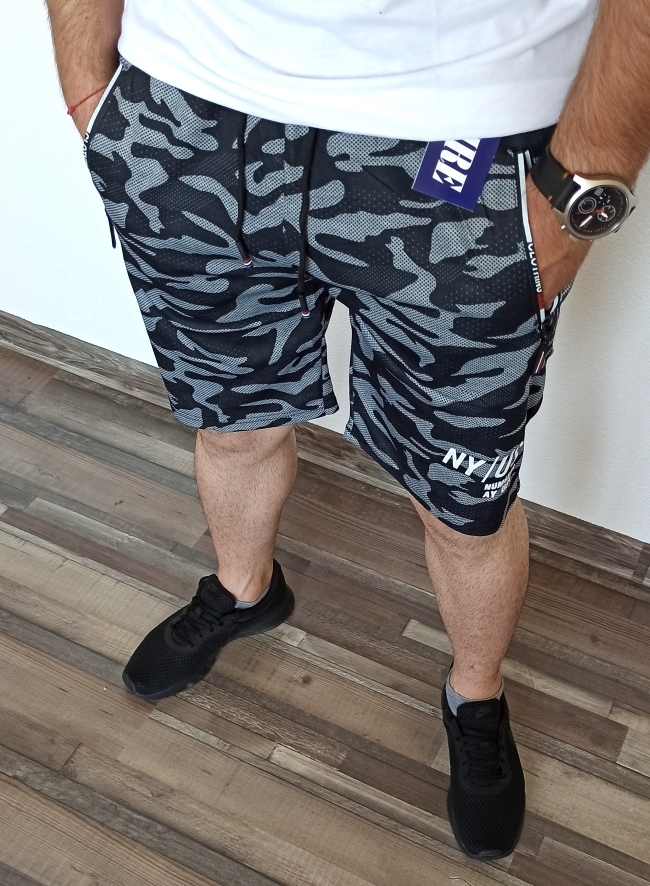 Мъжки камуфлажни шорти ''Run'' - черни