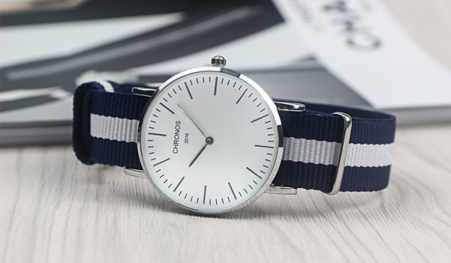 CHRONOS 1898 Бял часовник