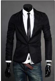 Стилно мъжко сако черно ПРОМО ЦЕНА !