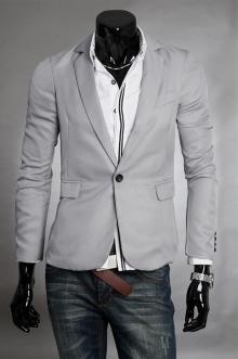 Стилно мъжко сако сиво ПРОМО ЦЕНА !