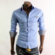 Мъжка риза синя ТОП ЦЕНА !