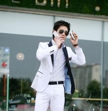 Официално мъжко сако бяло