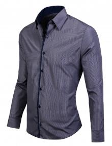 Сивo райе официална мъжка риза нов модел