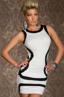 Бяла парти рокля супер модел