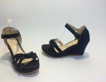 Страхотен модел сандали на платформа код: D44-Black