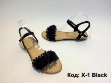 Нов модел летни сандали код : X-1 Black