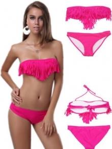 """Страхотен бански с ресни модел """"Victoria Secret"""" Розов"""