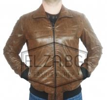 """Колекция кожени якета пролетно-есенно яке """"Стемо"""" – Бежаво"""