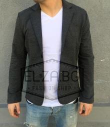Спортно-елегантно сако тъмно сиво TOP MODEL