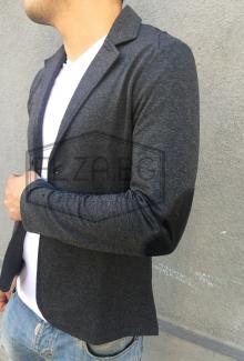 Спортно-елегатно сако с кожени кръпки на ръкавите НОВ МОДЕЛ