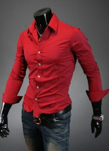 Искрящо червена риза втален модел