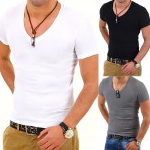ТОП ОФЕРТА ! 3 броя на цена от 38.99лв Мъжки тениски с деколте