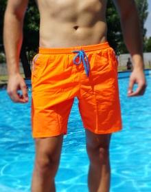 Нов модел мъжки плажни шорти - Оранжеви