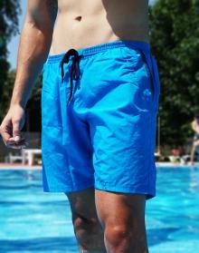 Нов модел мъжки плажни шорти - Светло сини