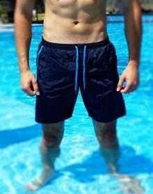 Нов модел мъжки плажни шорти - Тъмно сини