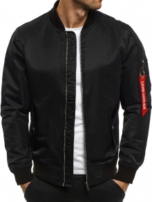 Пролетно мъжко яке тип Bomber - черно