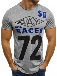 """Мъжка тениска """"Races"""" - сива"""