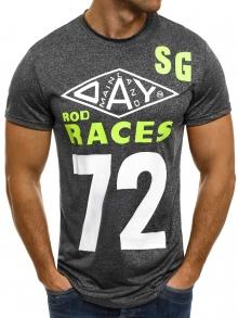 """Мъжка тениска """"Races"""" - графит"""