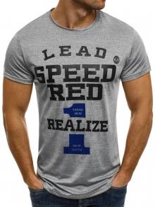 """Мъжка тениска """"Speed"""" - сива"""