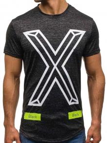 """Мъжка тениска """"The X"""" - графит"""