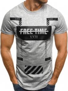 Мъжка тениска Free Time - сива