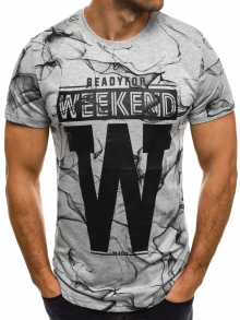 """Мъжка тениска """"W"""" - сива"""
