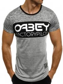 """Мъжка тениска """"OABEY"""" - сива"""