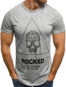Мъжка тениска ''Skull'' - сива