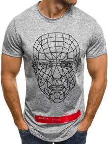 Мъжка тениска ''Last'' - светло сива