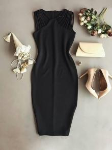 Ежедневна дамска рокля в черно