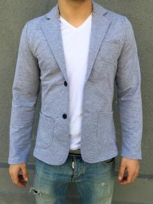 Спортно-елегантно сако светло сиво TOP MODEL