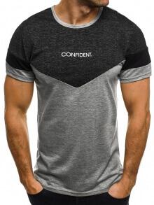 Мъжка тениска ''Confident'' - сива