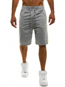 ПРОМО! Мъжки шорти Sport - светло сиви