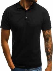 Мъжка тениска ''Polo'' - черна