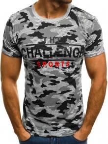 Мъжка тениска ''Record'' - светло сива