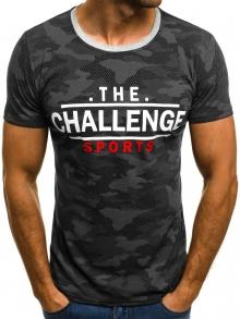 Мъжка тениска ''Record'' - черна