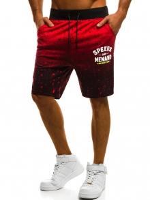 Мъжки шорти ''Ombre'' - червени