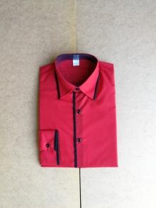 Мъжка риза с дълъг ръкав червена