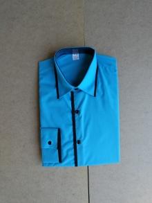 Мъжка риза с дълъг ръкав небесно син цвят