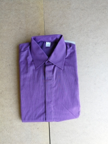 Мъжка риза с дълъг ръкав лилава