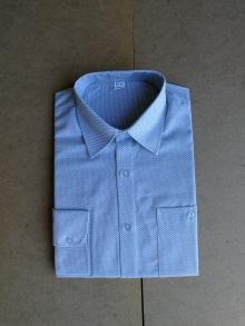 Мъжка риза с дълъг ръкав светло синя
