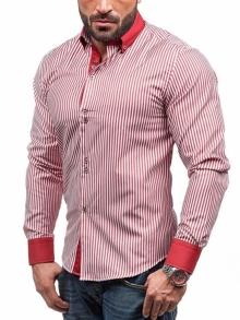 Нов модел карирана мъжка риза - червена
